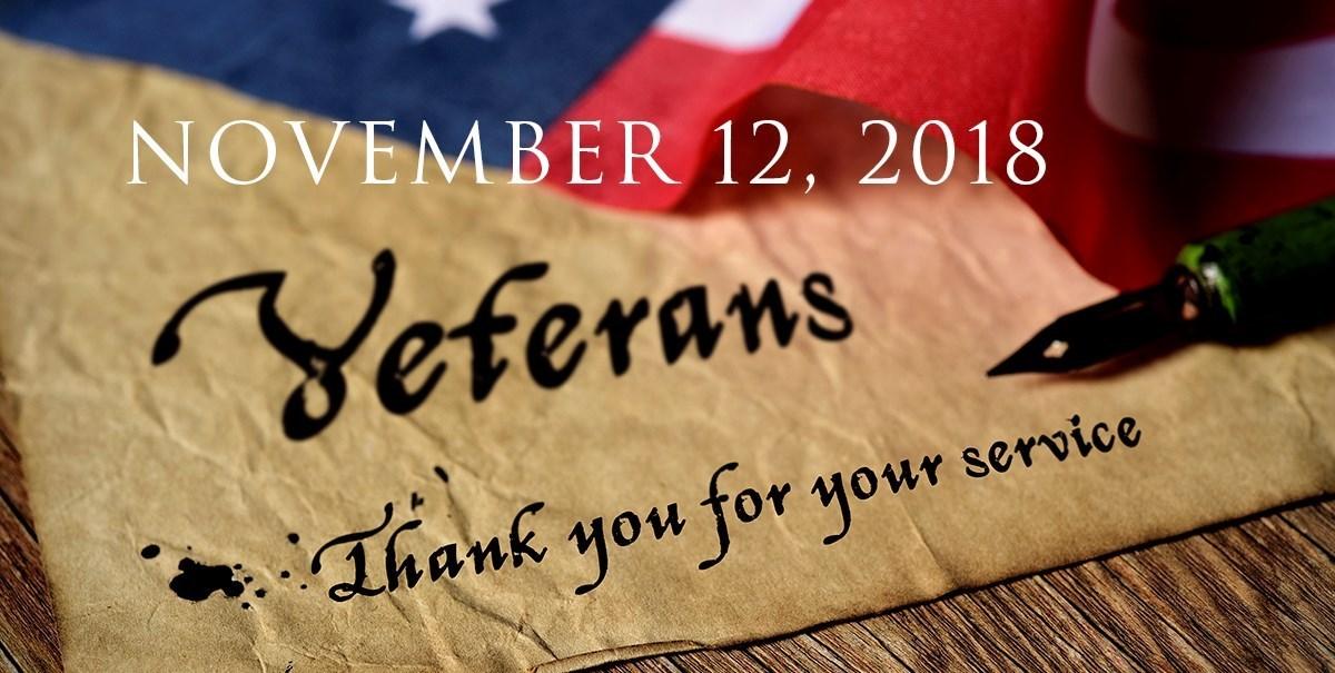 November 12, 2018 Veterans Day