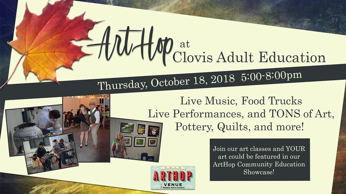 Community Education Art Hop is Coming October 18, 2018