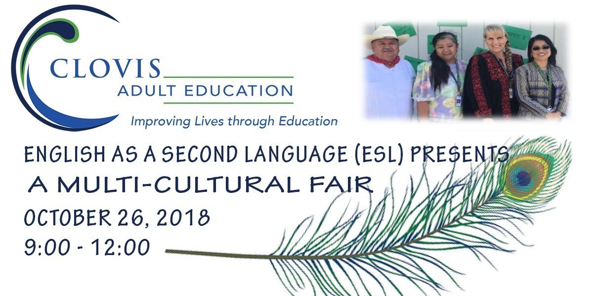 English as a Second Language presents a multi-cultural Fair on October 26, 2018