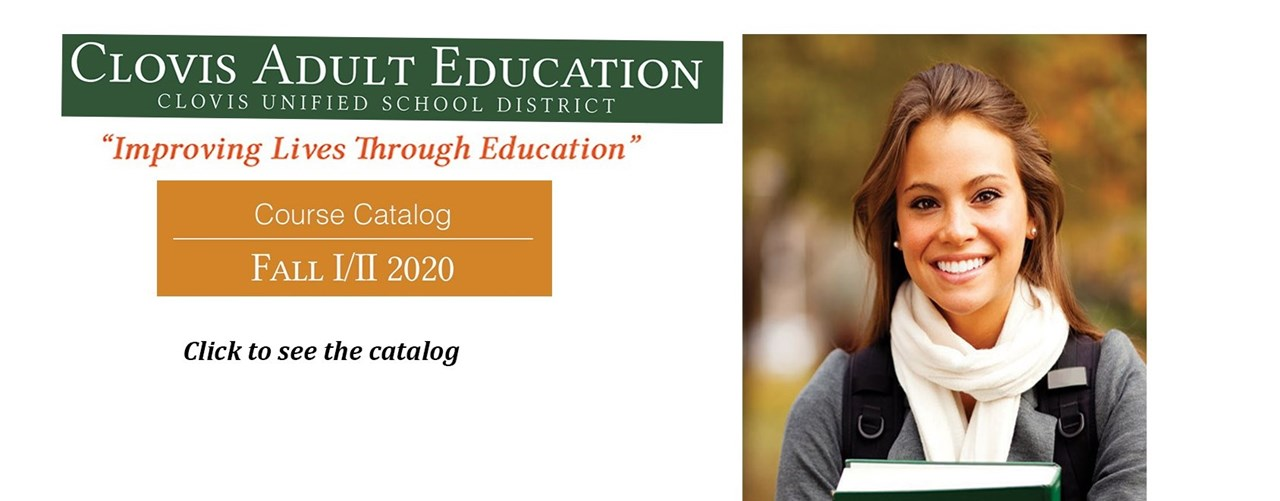 Clovis Adult Education, Fall 2020 Course Catalog